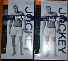 2 Pack Jockey Mens Midway Low Rise Briefs Stay Dry Fabric Cotton Stretch Slim Fi