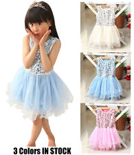 Beautiful Girl/toddler Pink/Blue sequined tutu Party dress