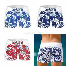 Summer Men Boy Swimwear Boxers Swimming Beach Shorts Floral Short Pants S-XL