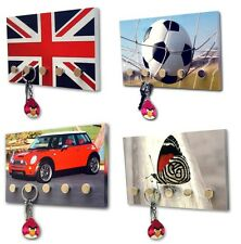 Designer House Keys Wall Key Holder Rack Plaque Car Key Chain Hanger for 5 Keys