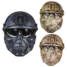 Pattern Tactical Airsoft Paintball Helmet+Mask+Goggle Glasses F. Hunting CS Game