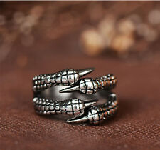 FASHION MEN STAINLESS STEEL SKULL BIKER S 316l RING DRAGON GOTHIC JEWELRY S3