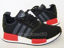 Adidas NMD R1 Black White Red Runner Boost Mens Trainers BB1969 UK 4 Eur 36 2/3