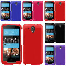 For HTC Desire 520 Cricket Rubberized Hard Matte Case Snap On Cover Accessory
