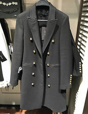 ZARA WOOL LONG CROSSOVER COAT XS-XL REF. 7677/744