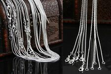 Factory Price Silver Plated 1mm-2mm Snake Necklace Chain Fashion Jewelry Chains