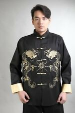 Traditional Chinese Men's silk embroidery party jacket coat Cheongsam Sz: M-4XL