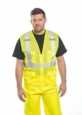 High Visibility ANSI Class 2 Safety Mesh Vest, YELLOW, US370