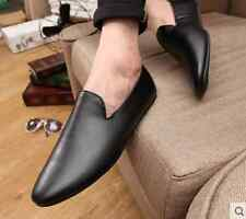 New Mens Comfy Leather Casual Slip On Loafer Soft Moccasins Driving Shoes