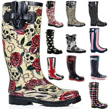 Womens Original Tall Knee High Wellies Wellington Waterproof Snow Rain Boots