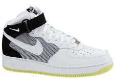 Nike AIR FORCE 1 MID '07 Mens Black White Neon Yellow Classic Sneakers Shoes