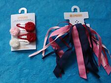 NWT GIRLS GYMBOREE HOMECOMING KITTY, HAIR CLIPS, PONYTAIL HOLDER U PICK!!