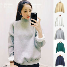 Fashion Womens Korean Hoodies Casual Sweatshirt Pullover Candy Color Outwear Top
