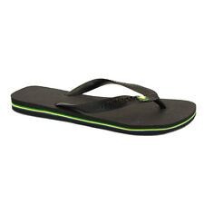 Havaianas Brasil Unisex Flip Flops Black New Shoes