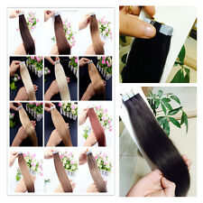 "Skin Weft Seamless Tape inRemy Human Hair Extensions Brazilian 8A 16""18""20"" Hair"