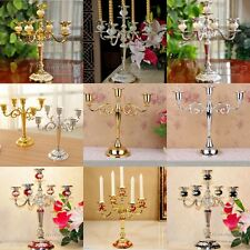 3Arm/5 Arms Candle Holder Metal Candlesticks Silver/Gold Candelabra For Xmas