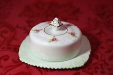Beautiful ROYAL STAFFORD Bone China England ROSES Covered Butter Cheese Dish