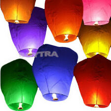 9 Colors Chinese Paper Sky Flying Wishing Lantern Lamp Candle Party Wedding TRHU