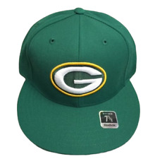 Green Bay Packers NFL Vintage Team Logo Fitted Cap (Green) Reebok NWT Mens Sizes