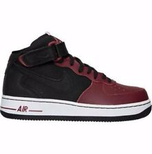 NIKE AIR FORCE 1 OLDER BOYS GIRLS UK SIZE 5 6 BLACK/RED TRAINERS SHOES NEW