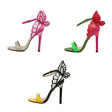 Womens High Heel Ankle Butterfly Strap Stilettos Sandals Pumps Peep Toe Shoes HY