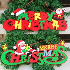 Merry Christmas Ornaments Santa Claus XMAS Party Tree Hanging Decoration Decor