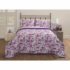 5-7 Piece Nature Boutique Overscale Floral & Polka Dots Bed in a Bag Bedding Set