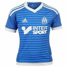 Adidas Olympique de Marseille 3rd Jersey 2015 2016 Juniors Blue/White Shirt Top