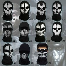 Halloween Duty Ghost Skull Face Mask Cosplay Balaclava Skateboard Bike Hood