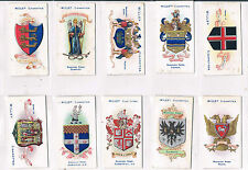 WILLS BOROUGH ARMS FOURTH SERIES 1905 INDIVIDUAL CARDS