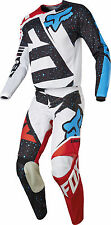 Fox Racing Youth Red/White/Blue/Black 180 Nirv Dirt Bike Jersey Pants Kit Combo