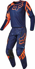 Fox Racing Mens Navy Blue/Orange Legion LT Offroad Dirt Bike Jersey & Pants Kit