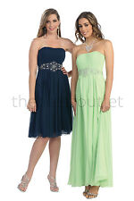 Long Formal Dresses Strapless Plus Size Evening Gown Bridesmaids Prom Dress