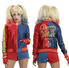 NWT Suicide Squad Harley Quinn Embroidered Cosplay Jacket Hot Topic - S or M