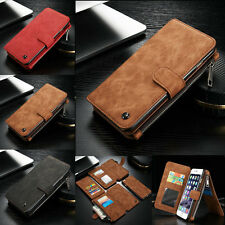 For iPhone 5s SE 6s Plus Removable Leather Magnetic Case Wallet Card Flip Cover