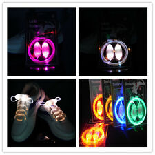 LED Flash Luminous Shoelaces Light Up Glow Waterproof Shoelaces Disco Party T`