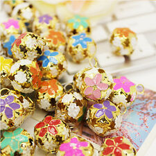 3X Flower Copper Bells Jingle Bells XMAS Decor Charms Pet Jewelry Pendants Gift