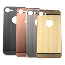 For Apple iPhone 7 Aluminum Metal Bumper Frame   Acrylic Brushed Back Case Cover