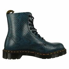 Dr.Martens Pascal 8 Eyelet Viper Skin Blue Womens Boots