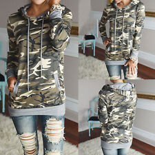 Women Fashion T Shirt Hooded Long Sleeve Casual Outwear Tee Sweater Top Pullover