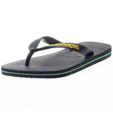 Havaianas Brasillogo Unisex Flip Flops Black New Shoes