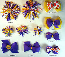 Los Angeles Lakers Themed Hair Bows Korkers Classic Bottle Caps U-Pick