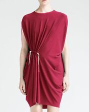 LANVIN 1790$ Authentic New Raspberry Pink Viscose Jersey Draped Dress SS2016
