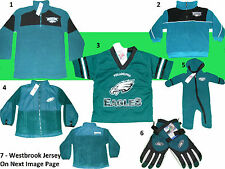 PHILADELPHIA EAGLES YOUTH PLAYER JERSEY FLEECE ZIP JACKET WINTER GLOVES SLEEPER