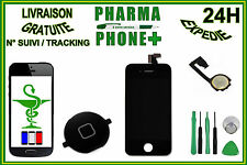 LCD DISPLAY TOUCH SCREEN DIGITIZER IPHONE 4 BLACK + HOME BUTTON + TOOLS