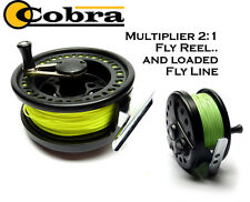 COBRA *MULTIPLIER* Fly Reel with a LOADED FLY LINE for Fly Fishing (RRP £53.99)