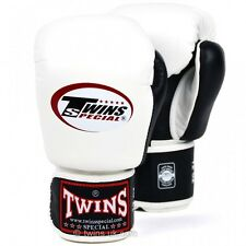 Twins 2-Tone White-Black Boxing Gloves Muay Thai Boxing Gloves Twins Special UK