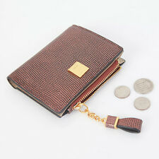 Omnia g0862Woman's Genuine Leather Cowhide Slim Half Style Wallet Stylish Design