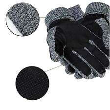 Hot Mens Winter Warm Gloves PU Leather Thermal Thicken Outdoor Driving Mittens
