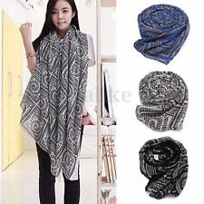 Women Lady Soft Long Neck Large Scarf Wrap Shawl Voile Stole Scarves Pashmina